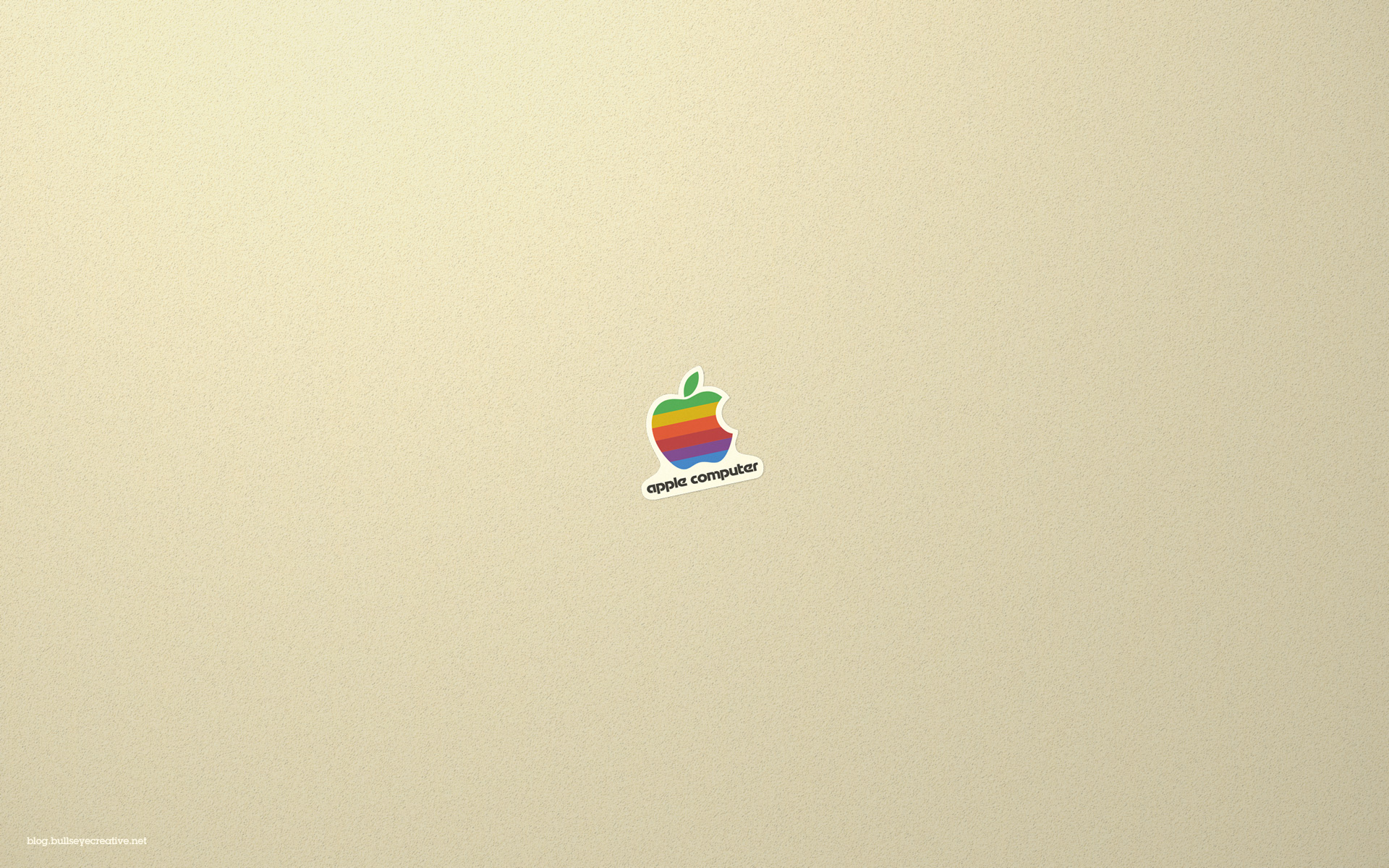 Classic Retro Apple Logo Wallpaper