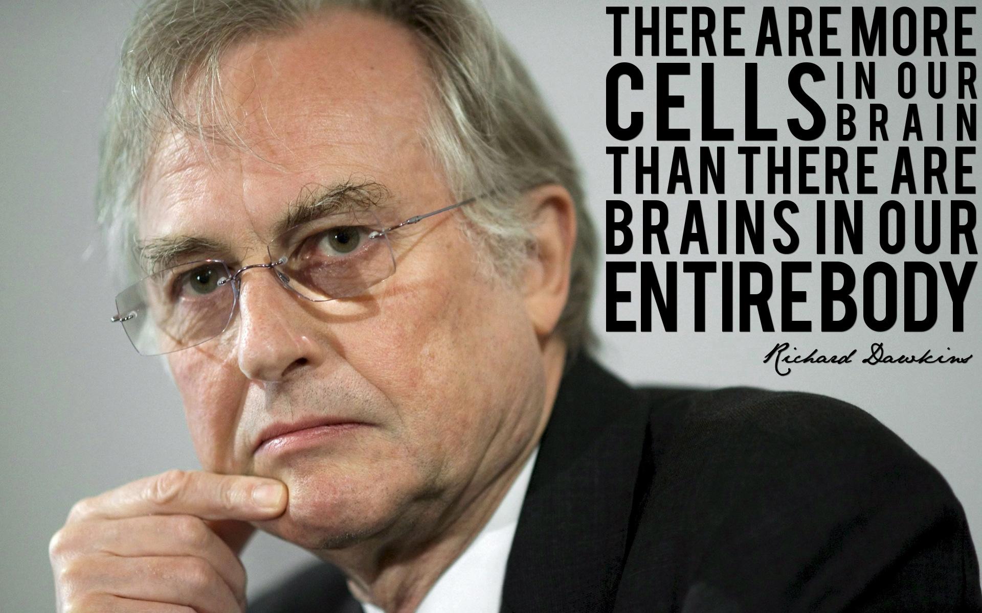 Richard Dawkins, Face, Cells, Brain HD large resolution desktop theme
