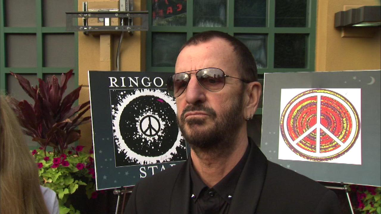 Ringo Starr artwork on display in Chicago