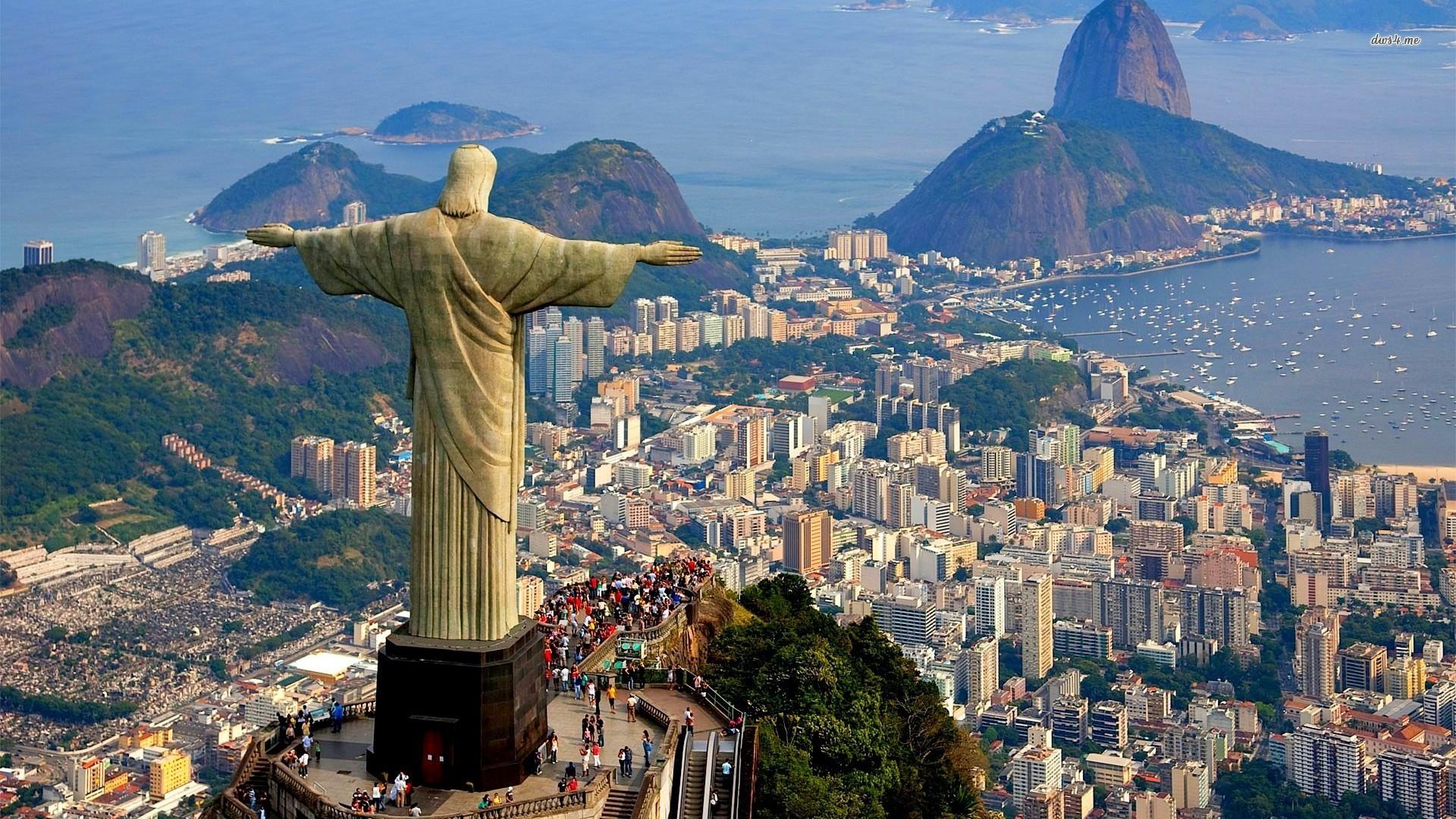 ... Statue of Jesus, Rio de Janeiro wallpaper 1920x1080 ...