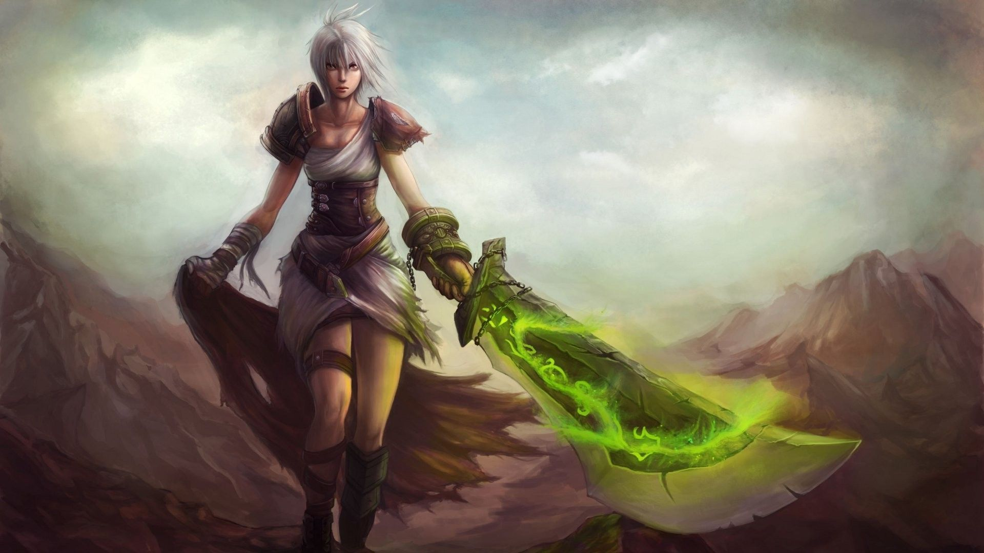 League Of Legends Wallpaper 1366x768: Riven League Of Legends Wallpaper 1920x1080px