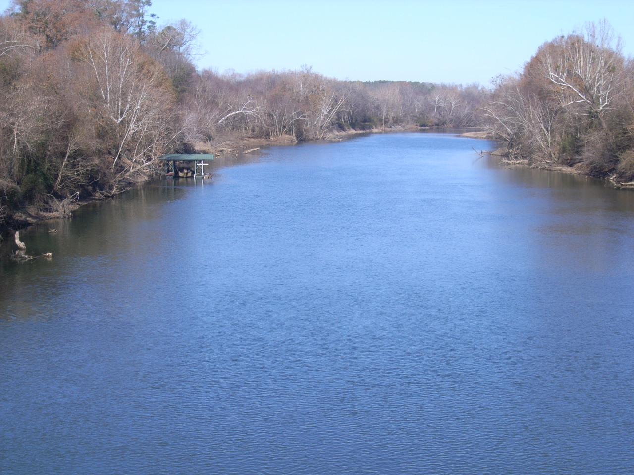 (2) Ouachita River looking downstream from bridge