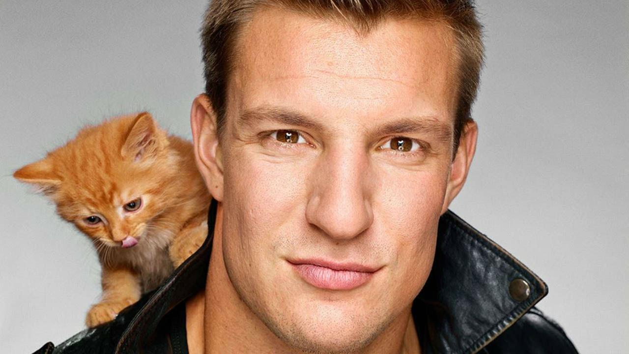 PHOTOS: Patriots tight end Rob Gronkowski poses with adorable kittens