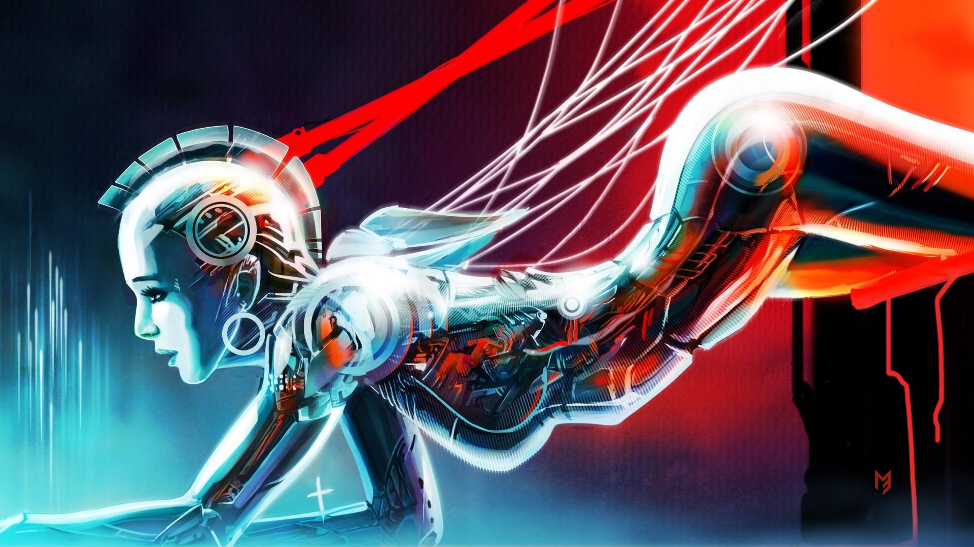 Robot Girl Art