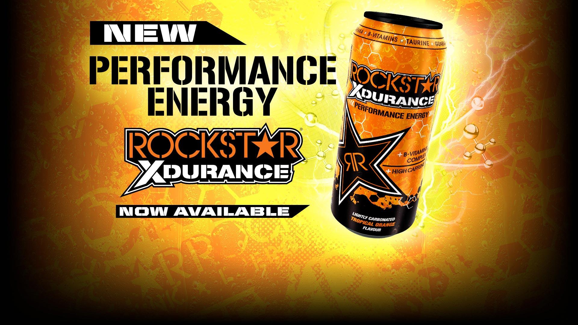 New Rockstar Xdurance Tropical Orange