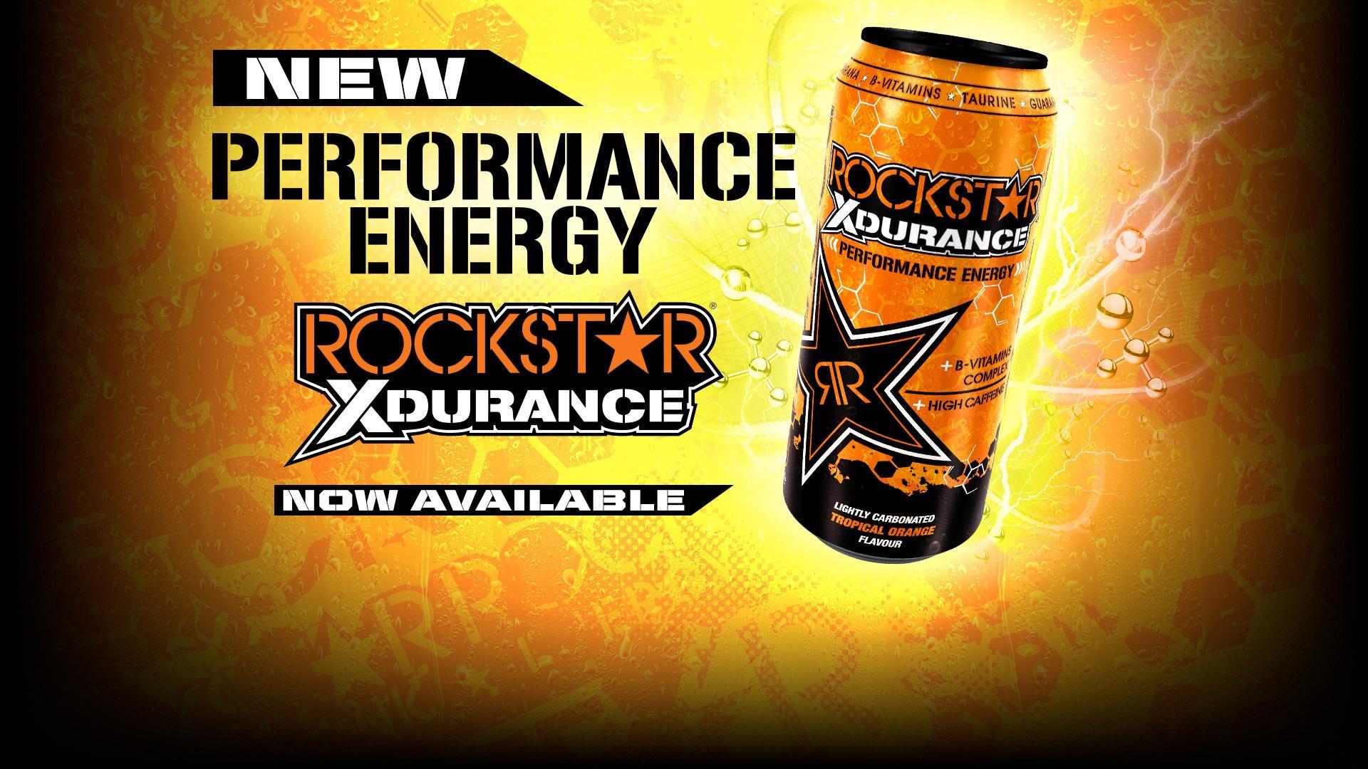 New Rockstar Xdurance Tropical Orange