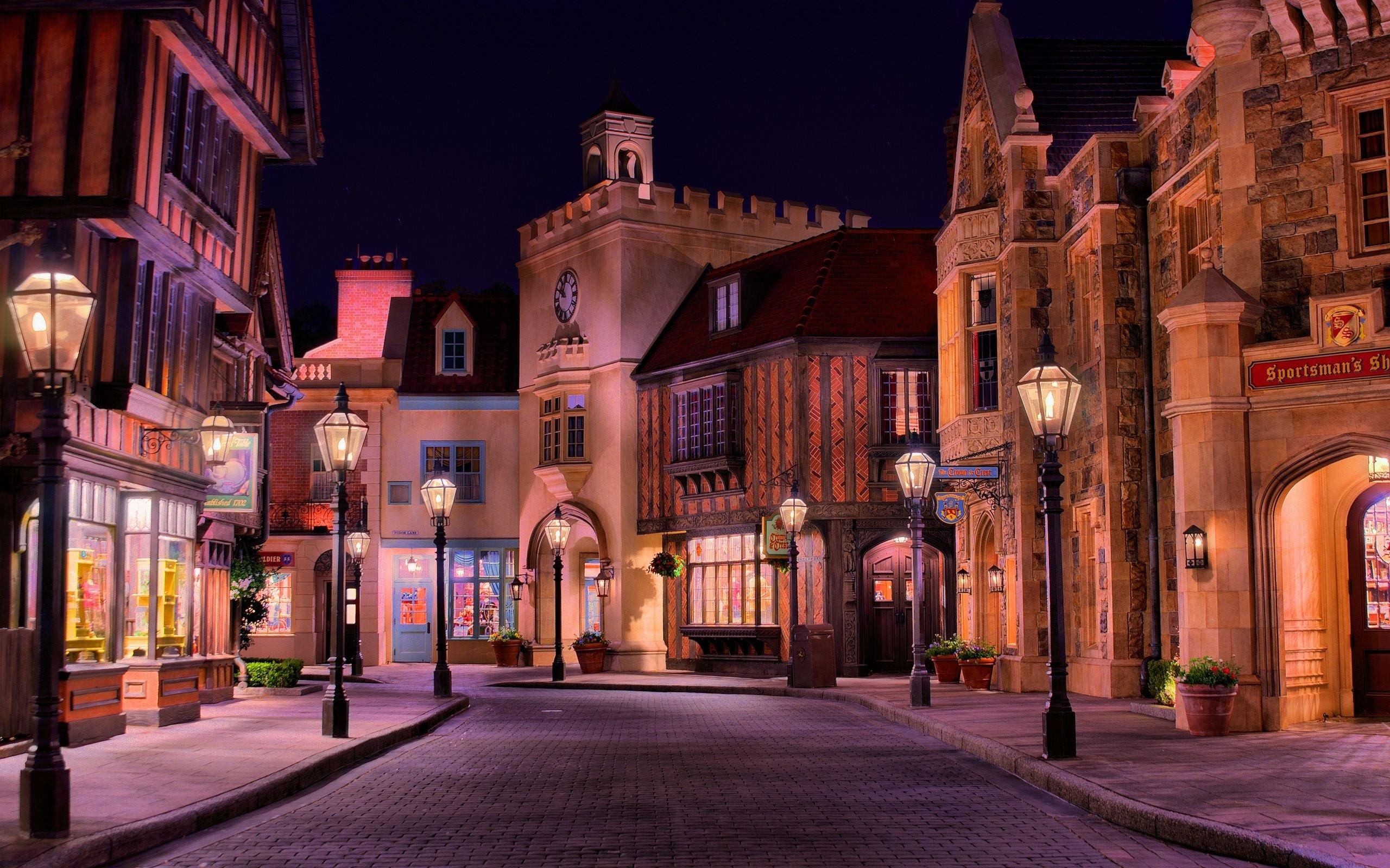 Romantic city street