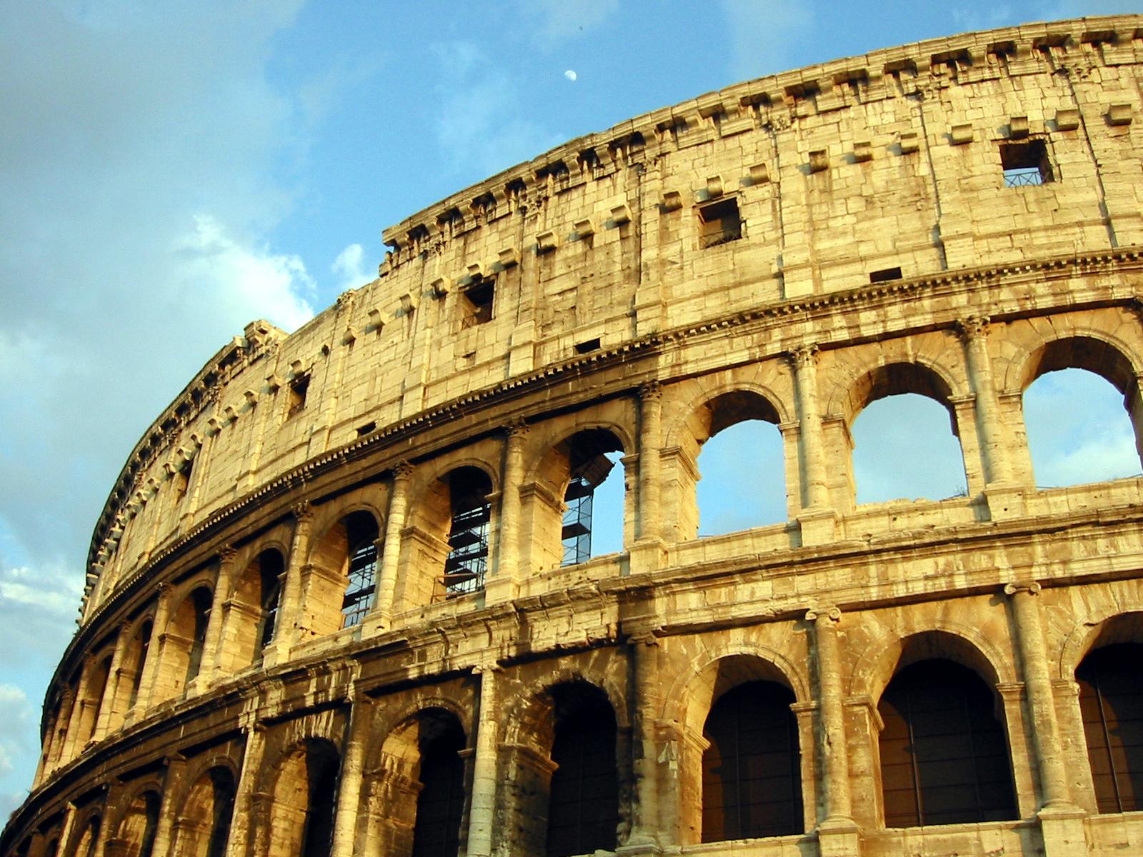 Original façade of the Colosseum