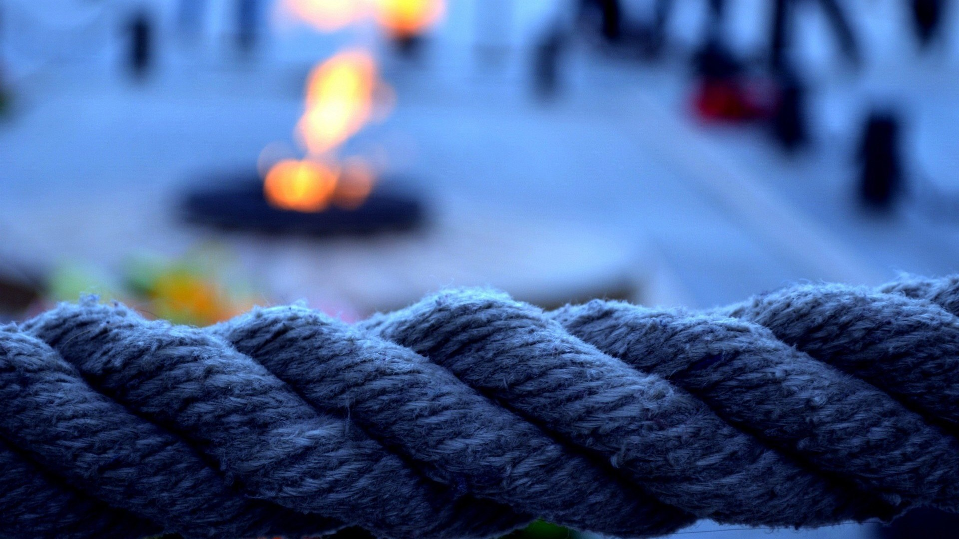 Bokeh Rope Close-Up