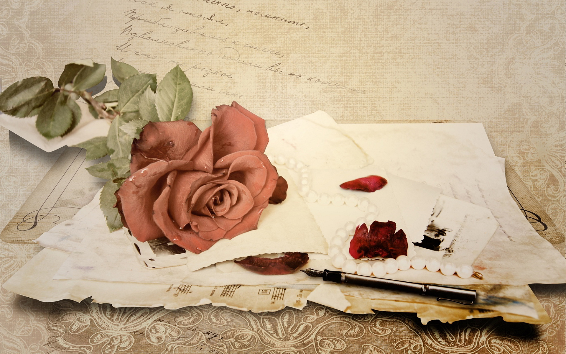 Rose Love Letter Wallpaper