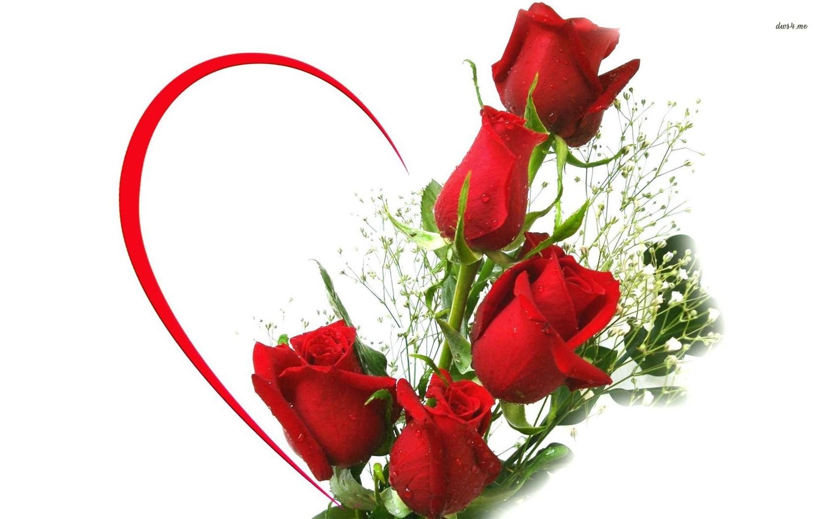 ... Red rose bouquet wallpaper 1680x1050 ...