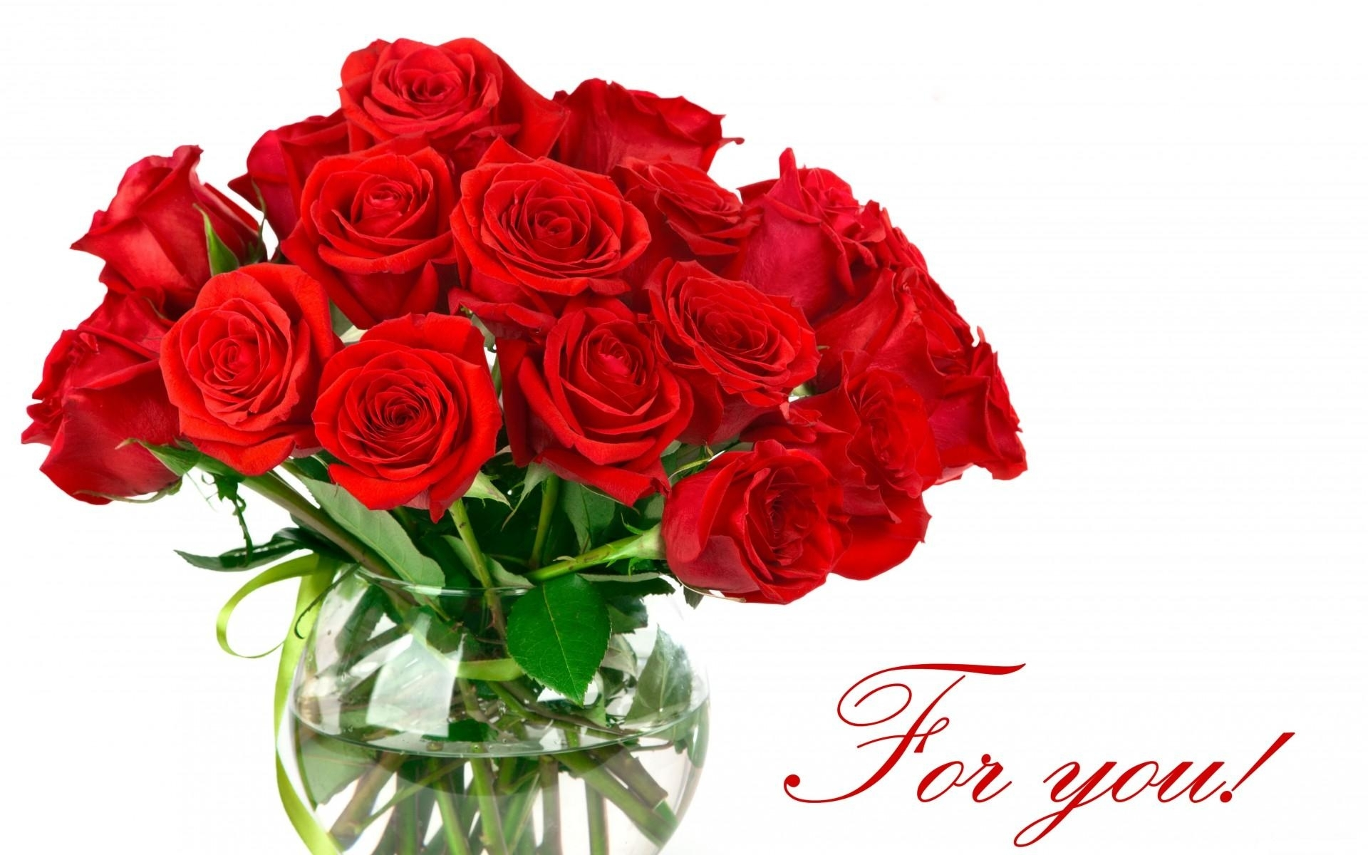 Roses Flowers Bouquet Bright Red Wallpaper #72552 - Resolution 1920x1200 px