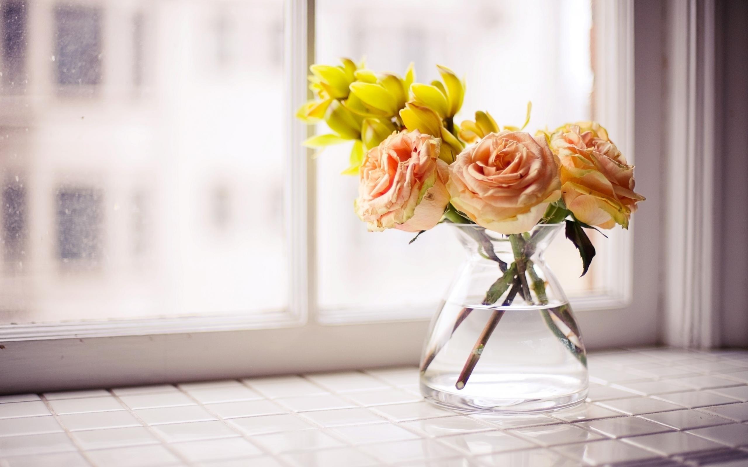 Roses Flowers Bouquet Vase