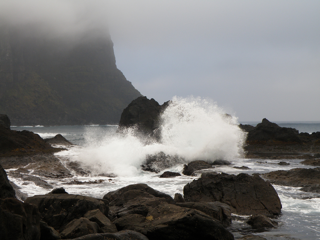 Rough sea cliff