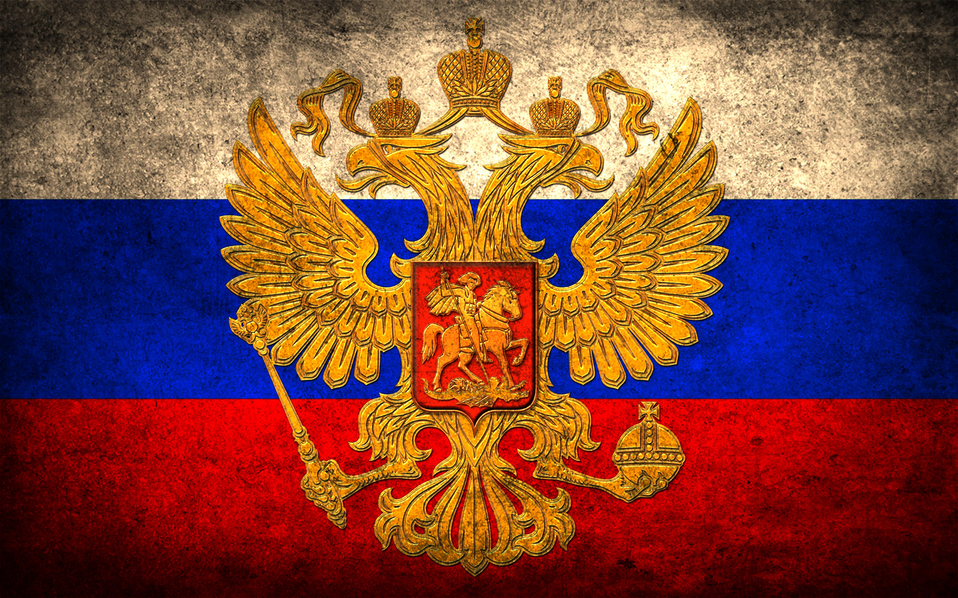 Russia flag double eagle