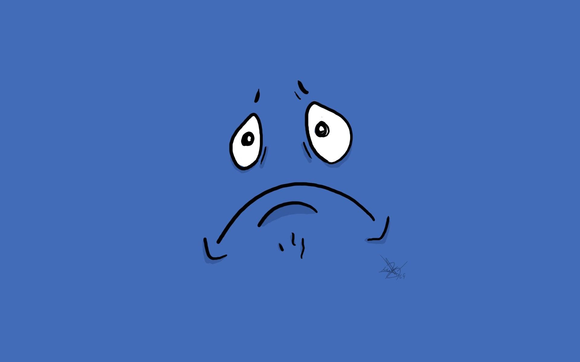 Sad Face Frustration Grief Facial Expressions Design