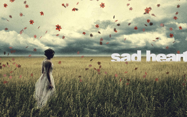 Women - Mood Woman Sad Leaf Grass Wallpaper