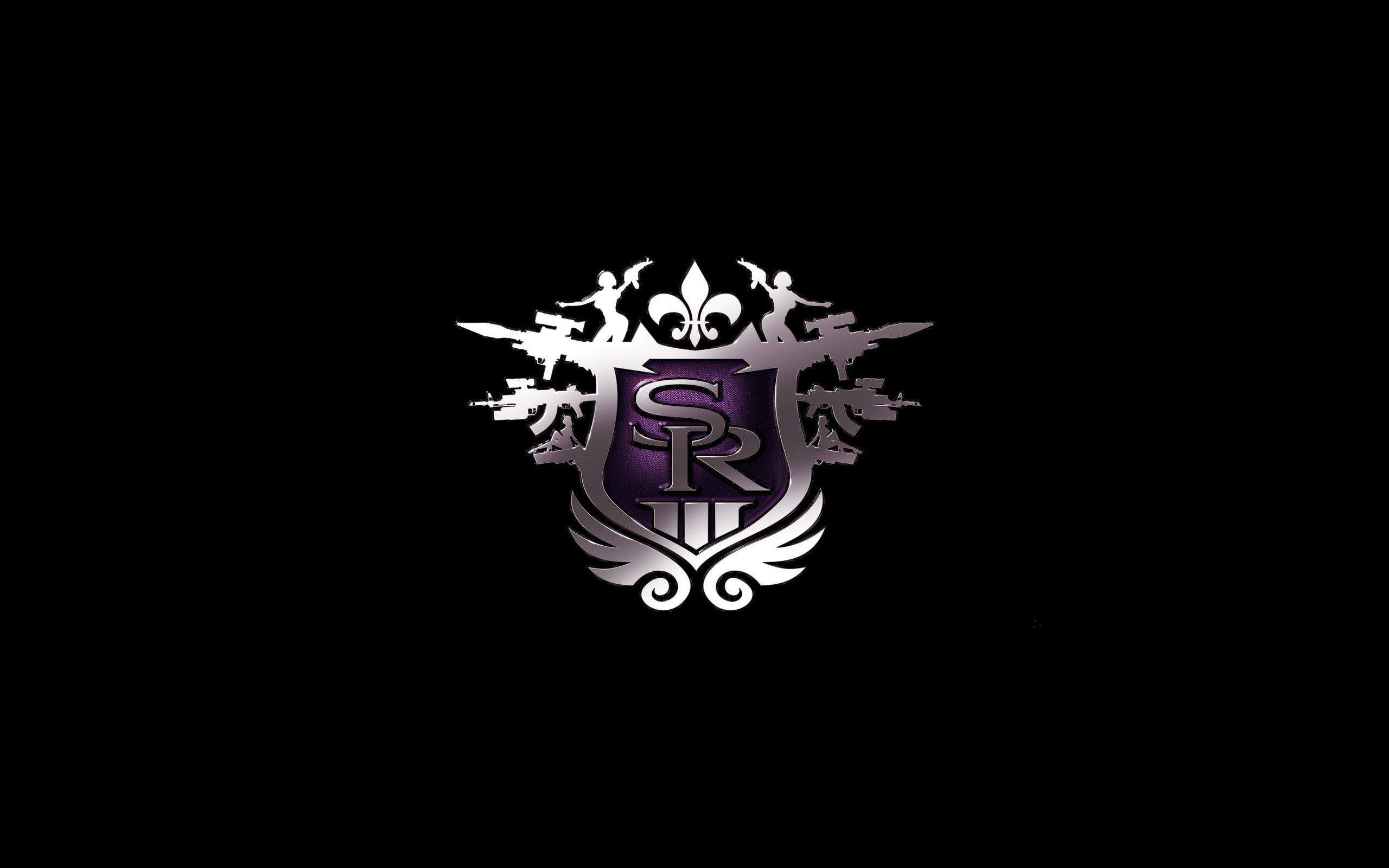 the, third, thq, saints row, logo, purple
