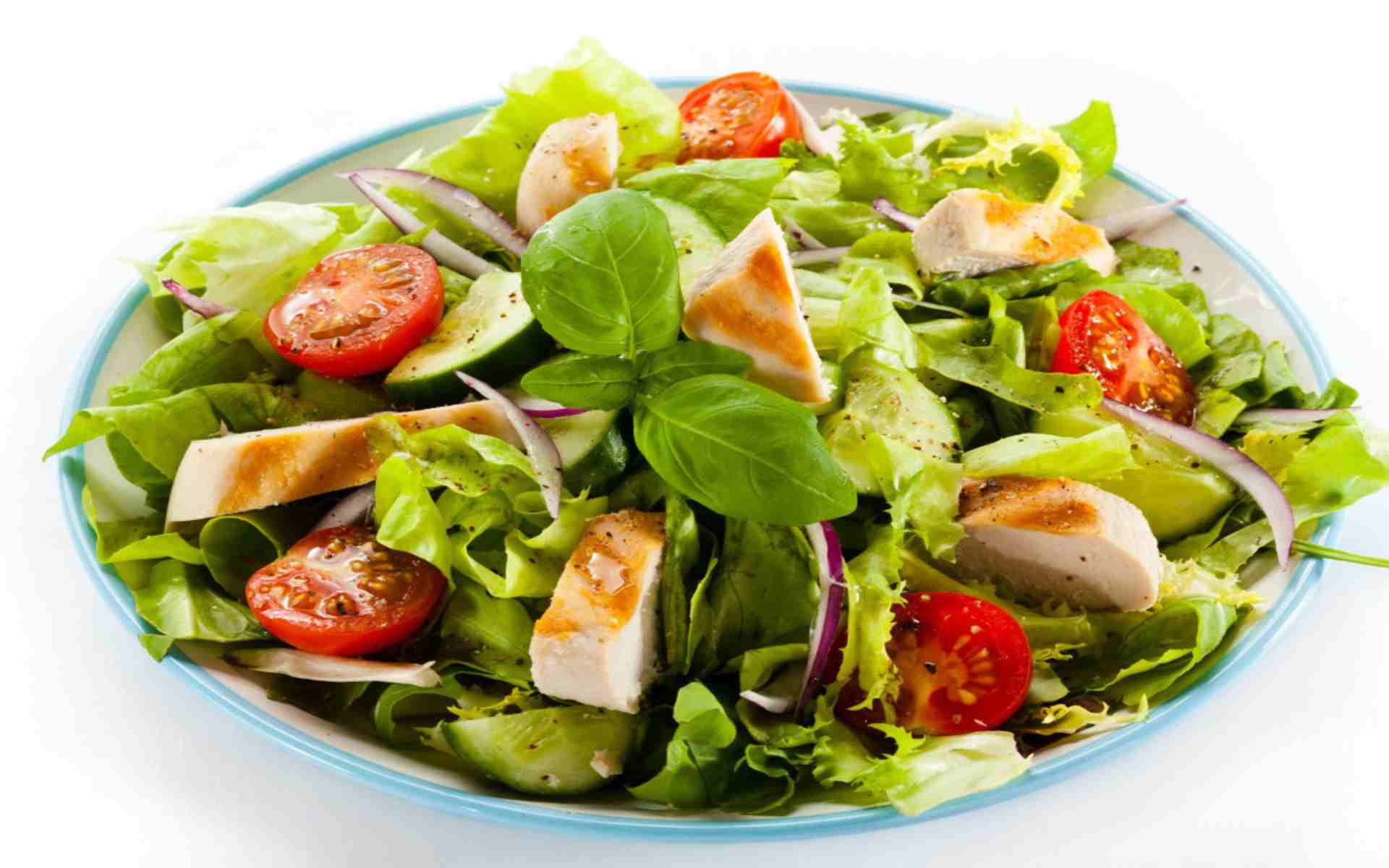 DOWNLOAD: salad meat tomatoes free picture 2560 x 1600