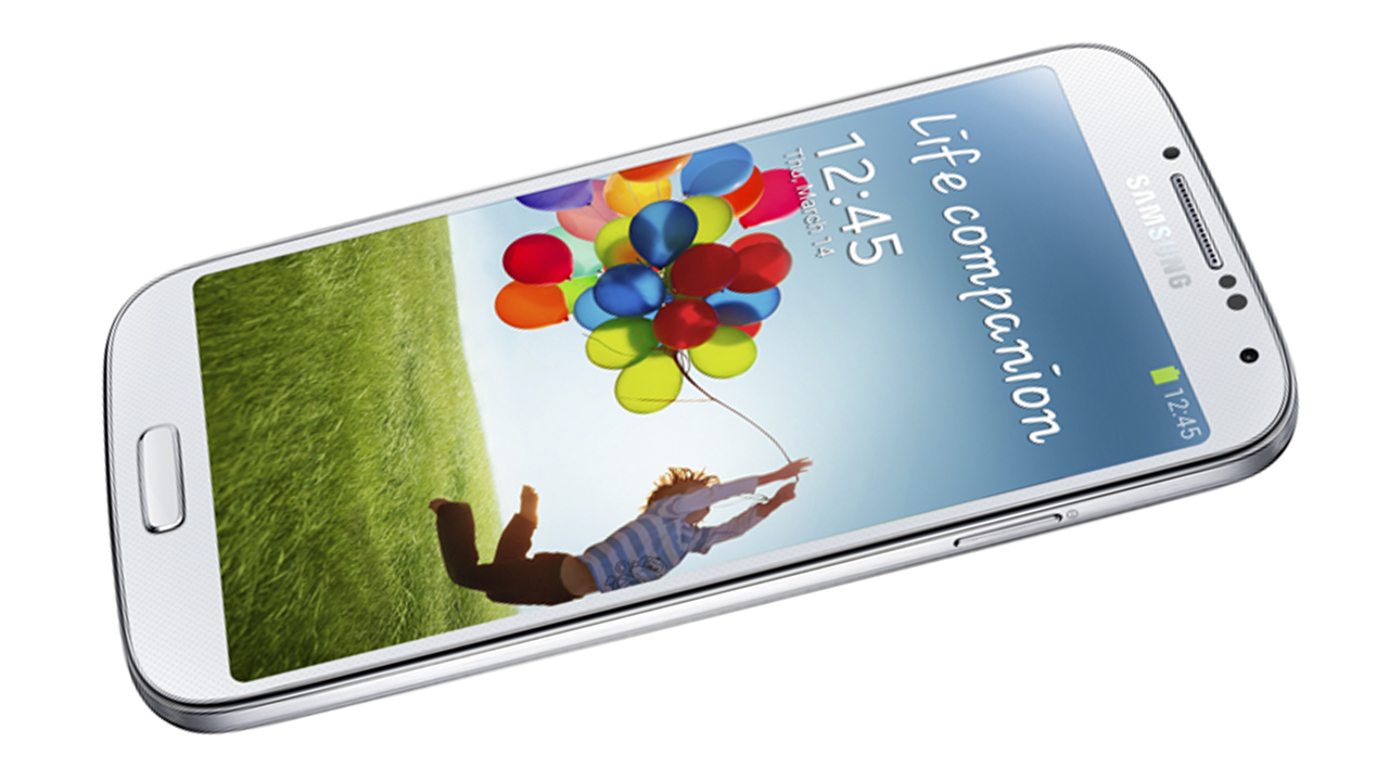 The Samsung Galaxy S4 smartphone.