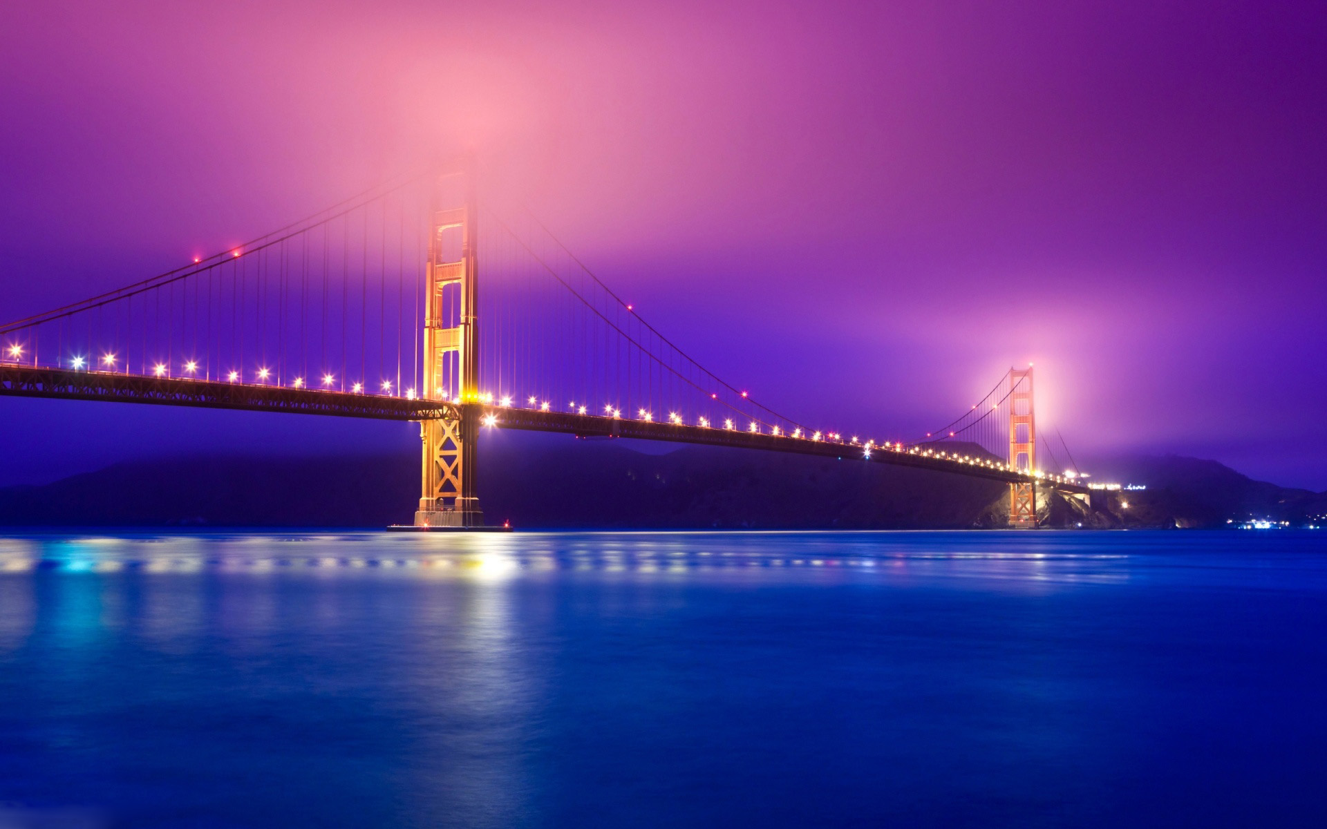 San Francisco Bridge Night Lights