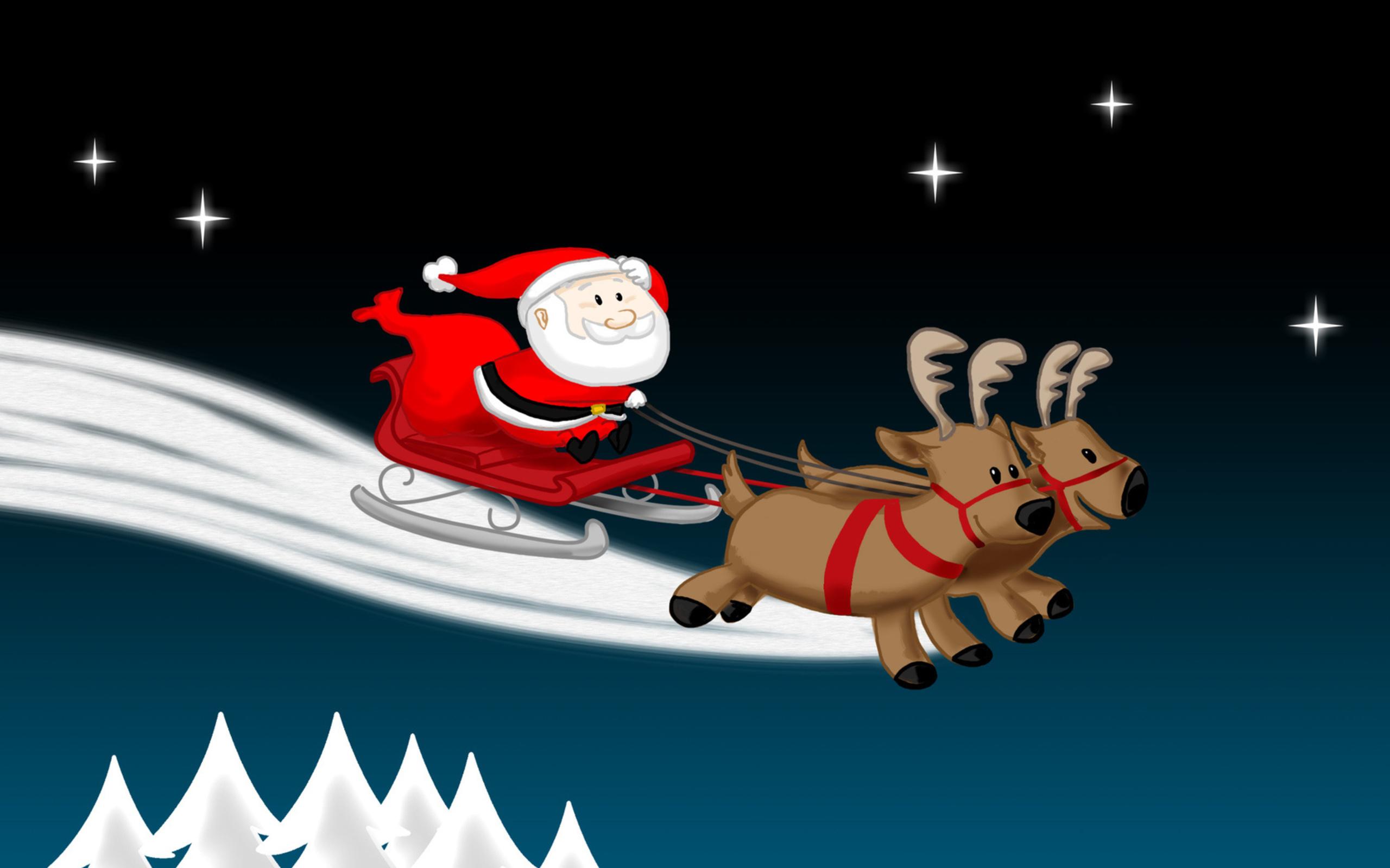 Santa cartoon