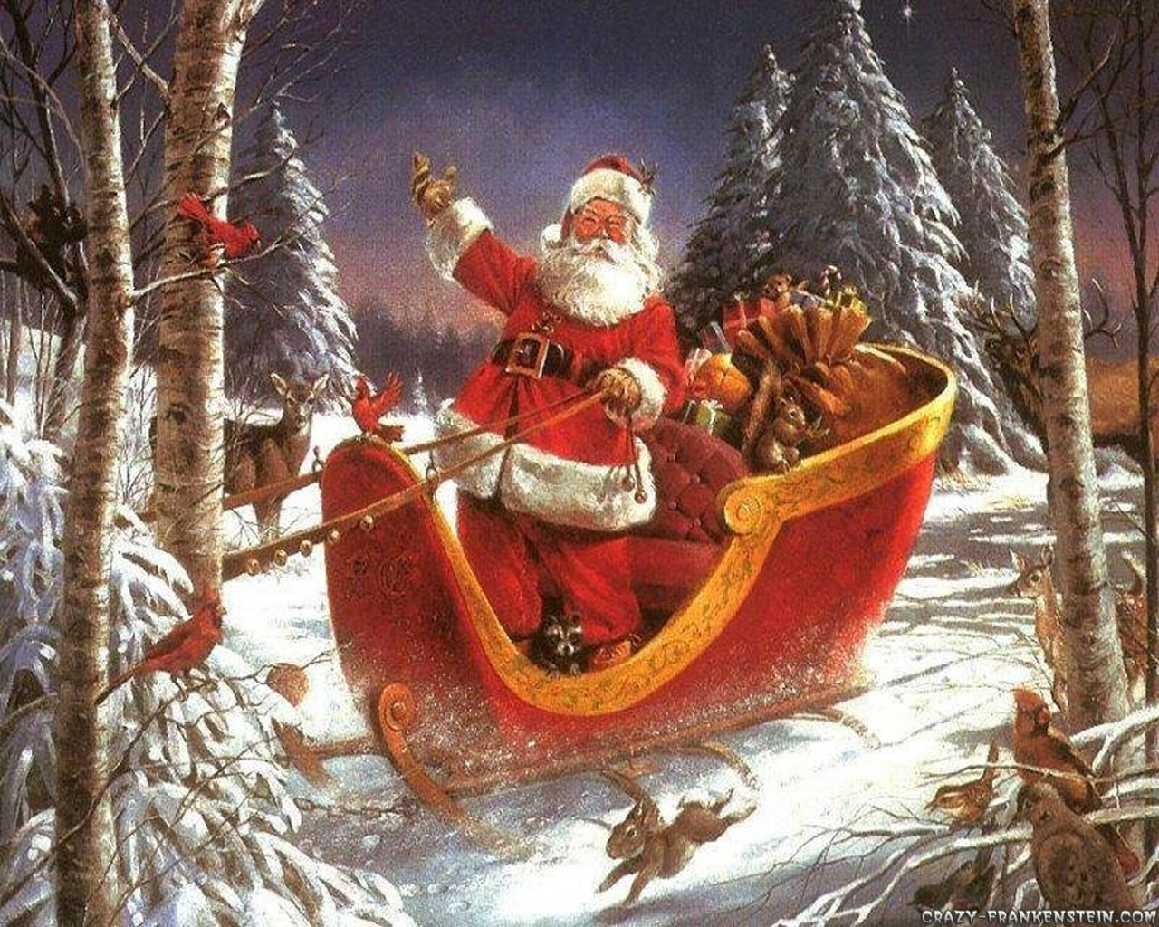 Credits: Wolfman Art/R. J. McDonald · Santa Claus coming Wallpaper