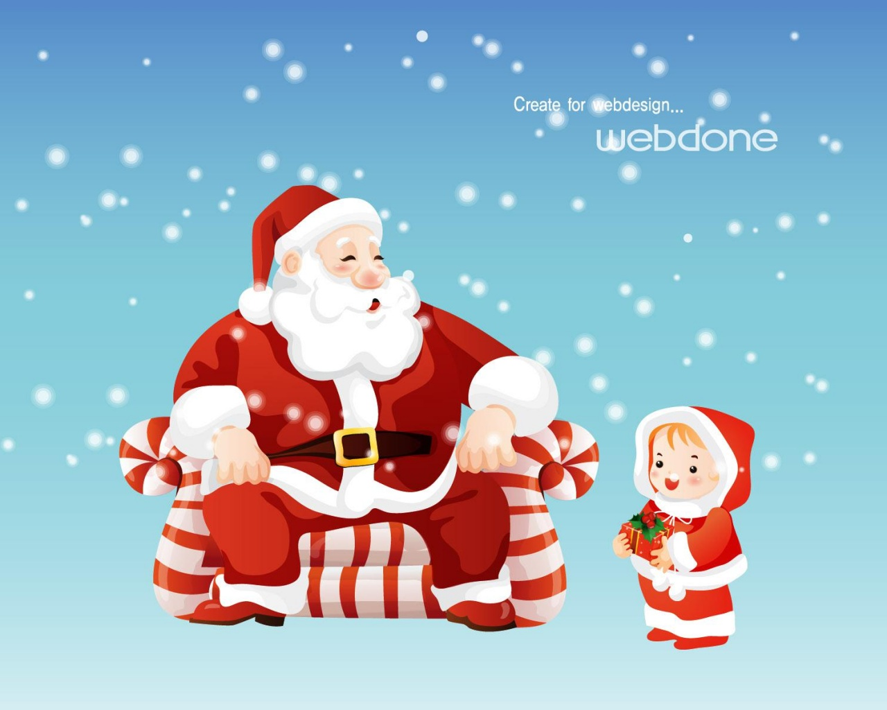 Santa Claus Holiday Christmas And Kids Wallpaper Cartoon Wallpaper