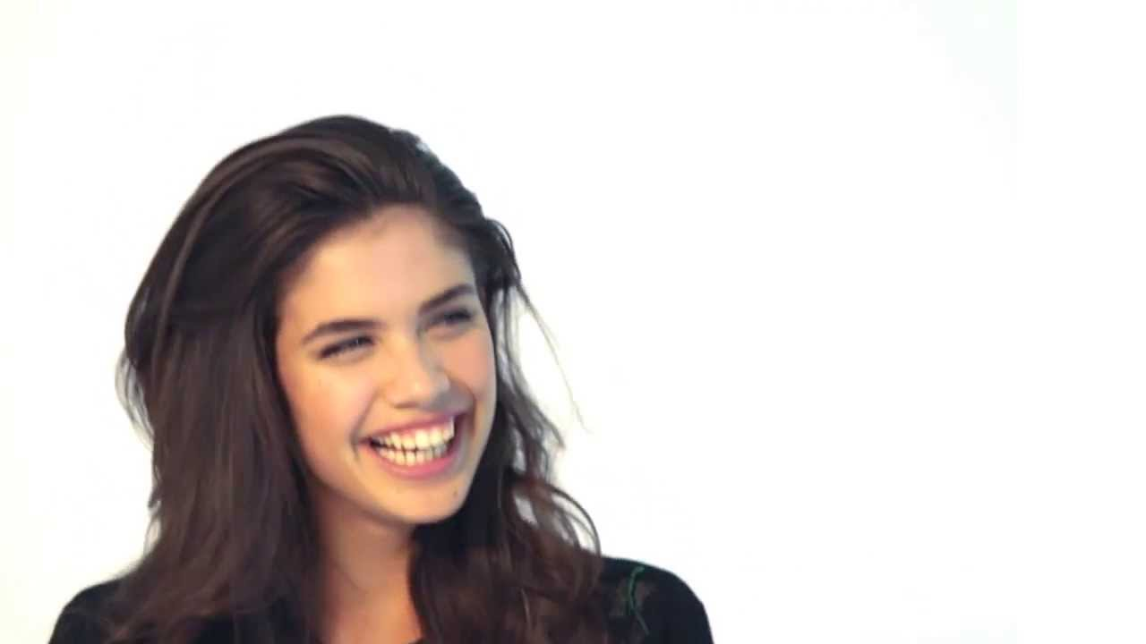 "Sara Sampaio talks about the lingerie collection at the ""Agua Bendita 2014 Collection photo shoot"""