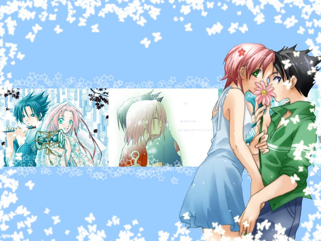 ... , Studio Pierrot, Naruto, Sakura Haruno, Sasuke Uchiha Wallpaper