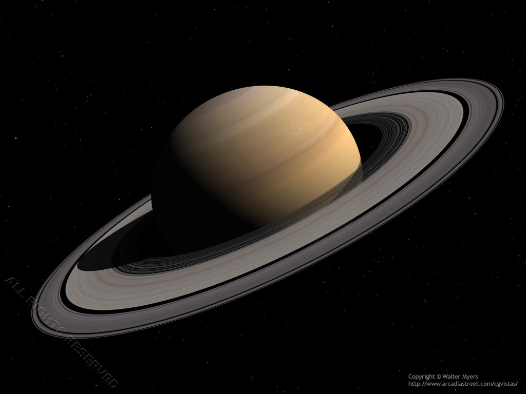 Planet Saturn; gas giant; jovian planet; planetary rings; ring system; oblate