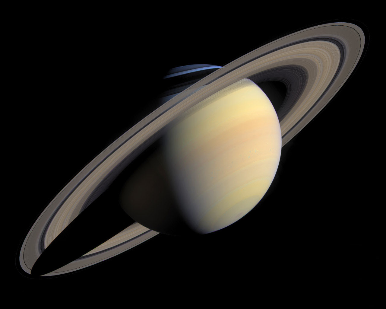 Saturn's main rings are an exquisite sight; the massive Phoebe ring is much larger but