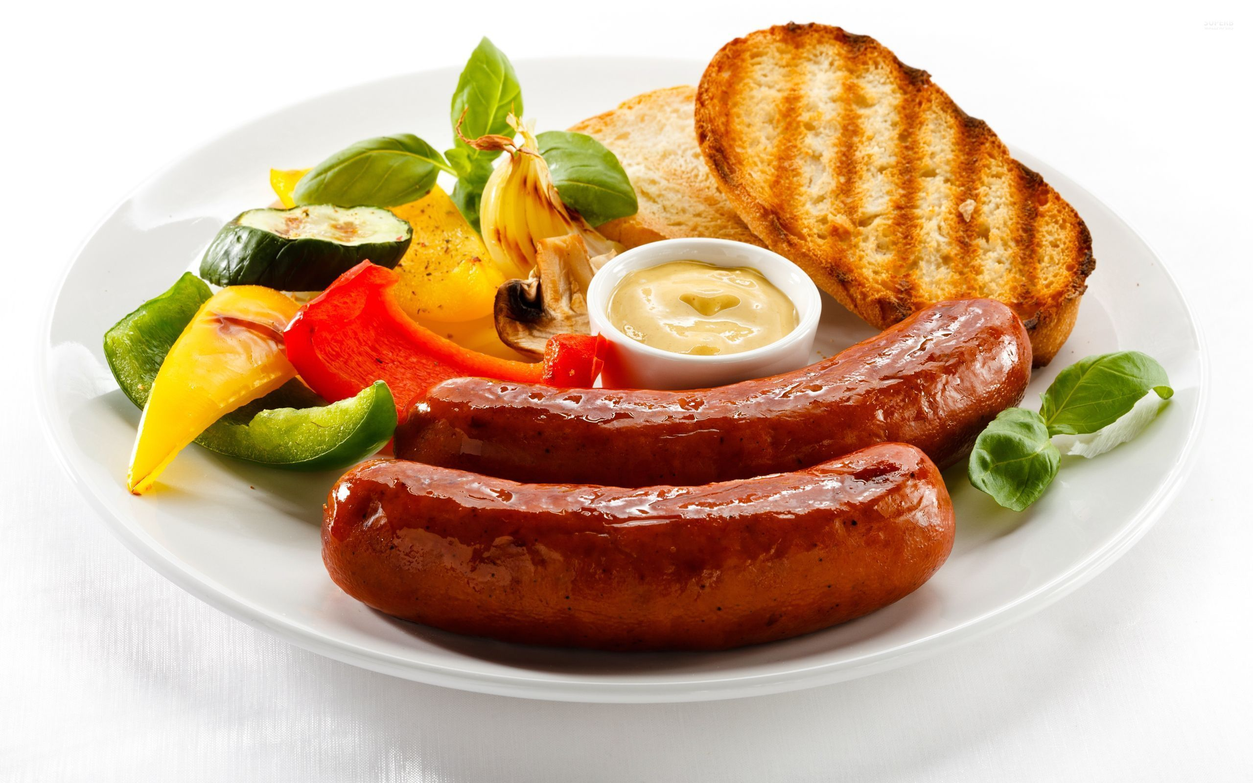 Sausage breakfast wallpaper 2560x1600 jpg
