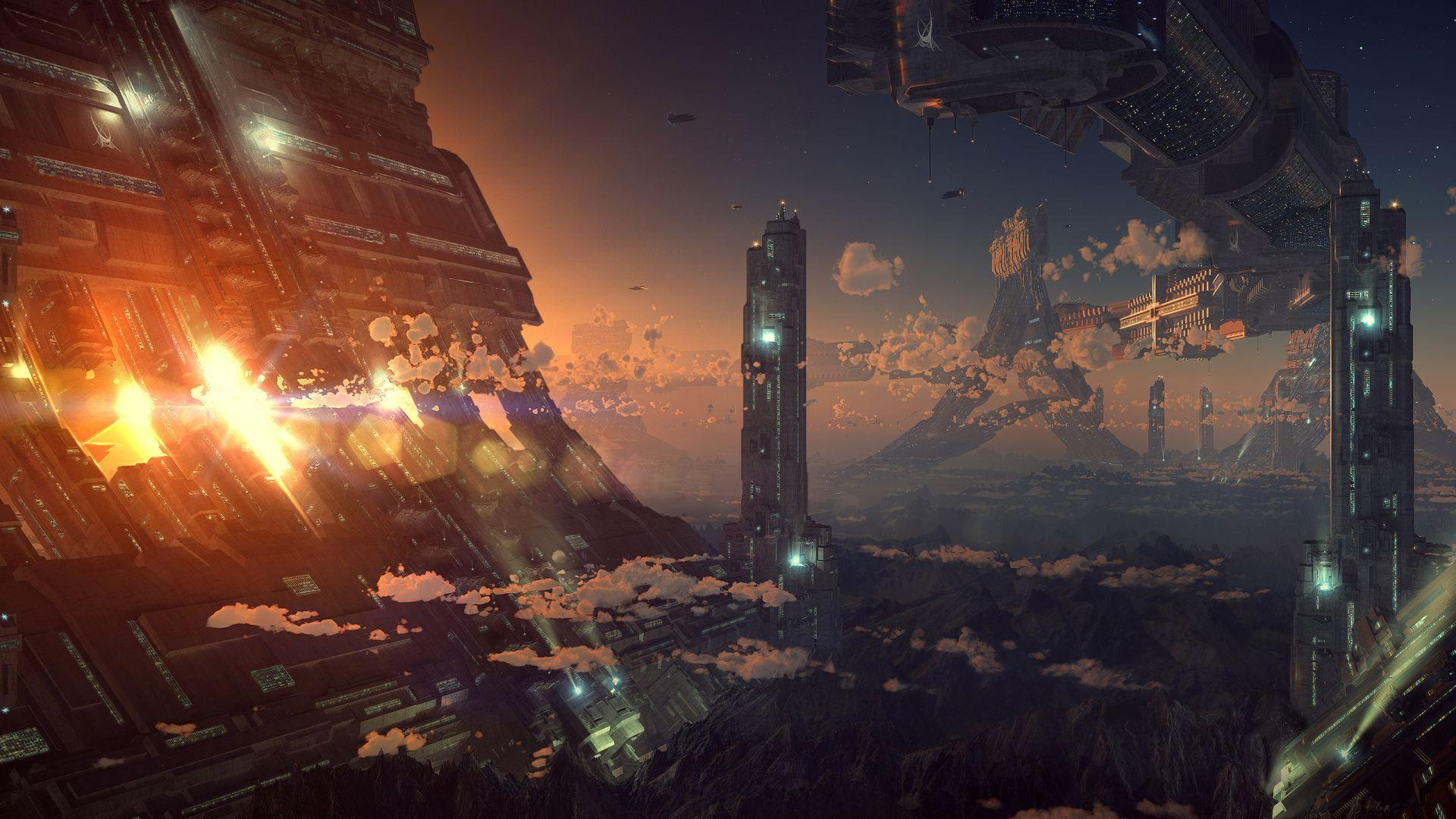 Sci Fi City Res: 1920x1080 HD / Size:272kb. Views: 55414