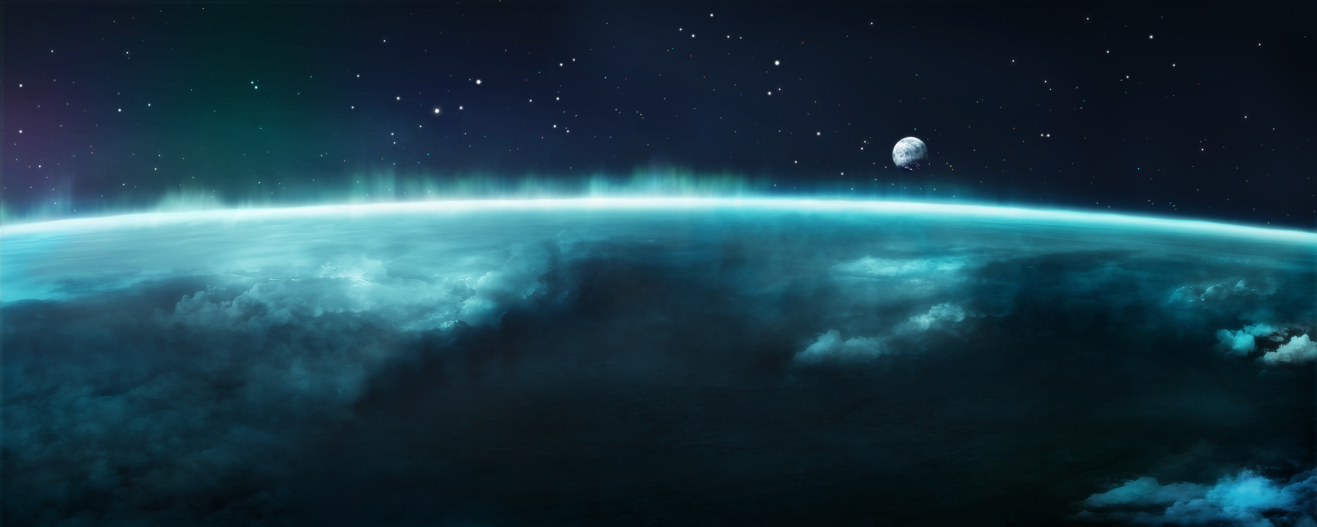 Awesome Sci Fi Wallpaper 2560x1024px