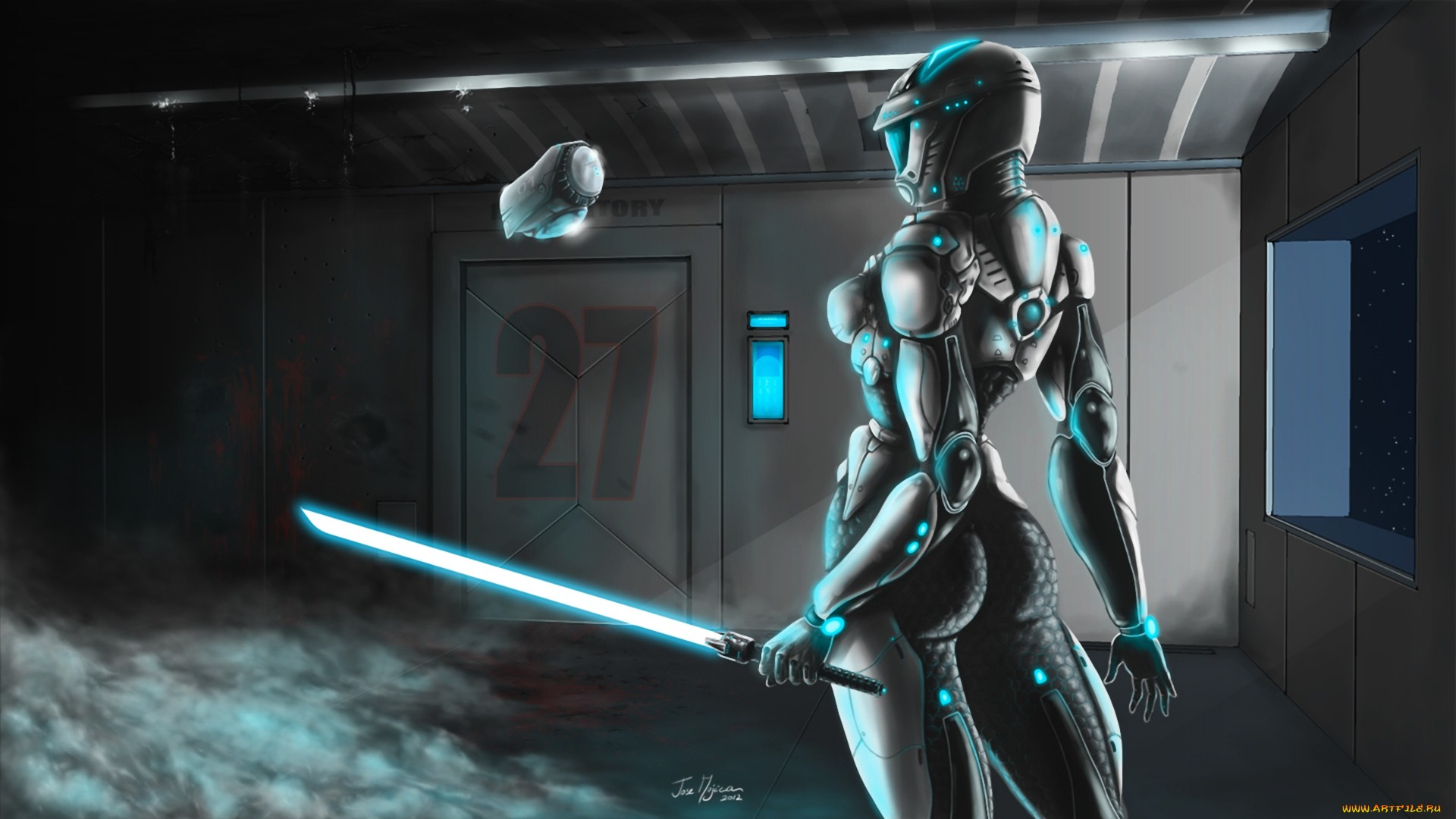 1920x1080 Sci Fi Women Warrior