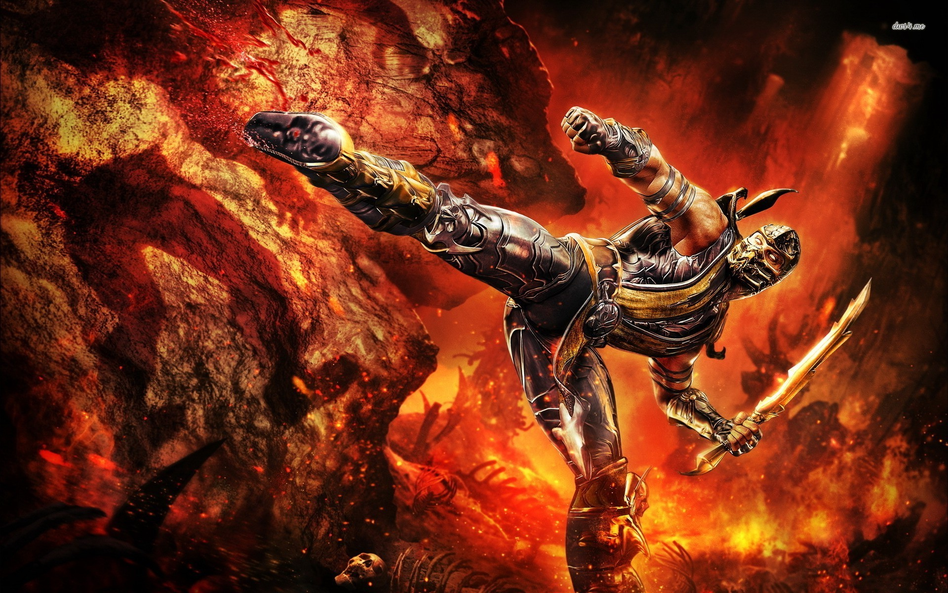 ... Scorpion - Mortal Kombat wallpaper 1920x1200 ...