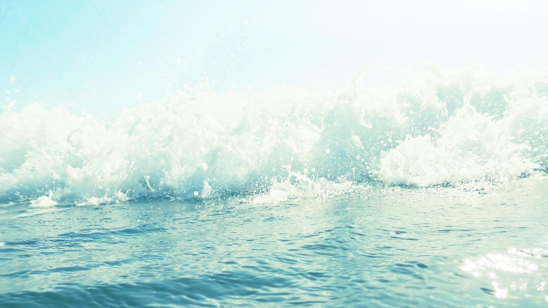 1920x1080 Wallpaper sea, foam, wave