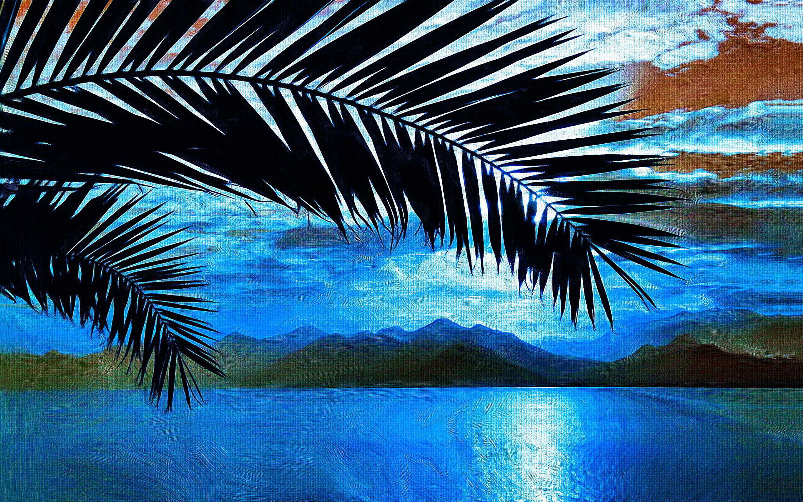Sea palms painting