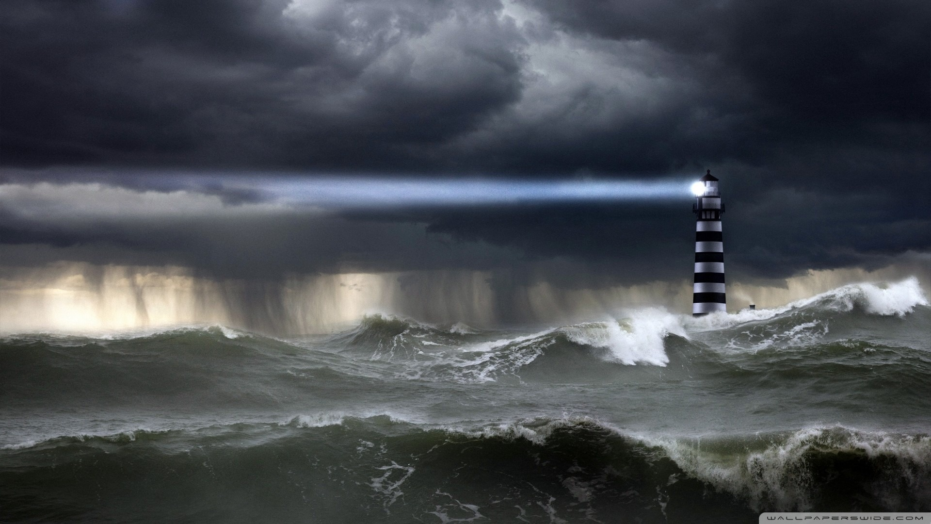 Sea Storm Hd Desktop Wallpaper Widescreen High Definition 1920x1080px