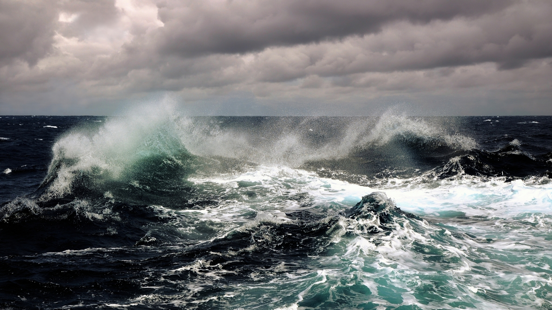 Sea Waves HD Wallpaper 1920x1080