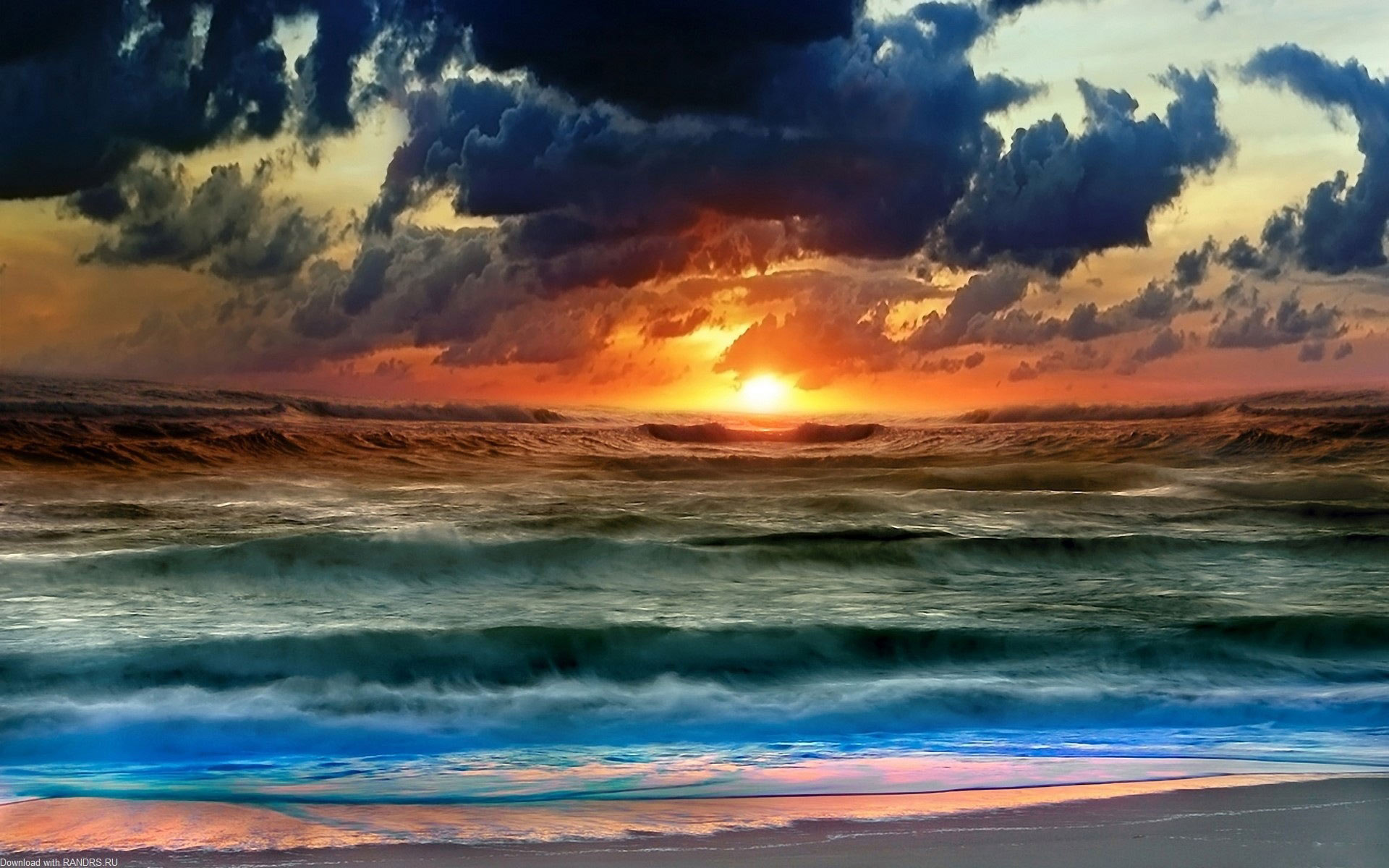 Storm Seascape Beach Nature Wallpapers 1920x1200px
