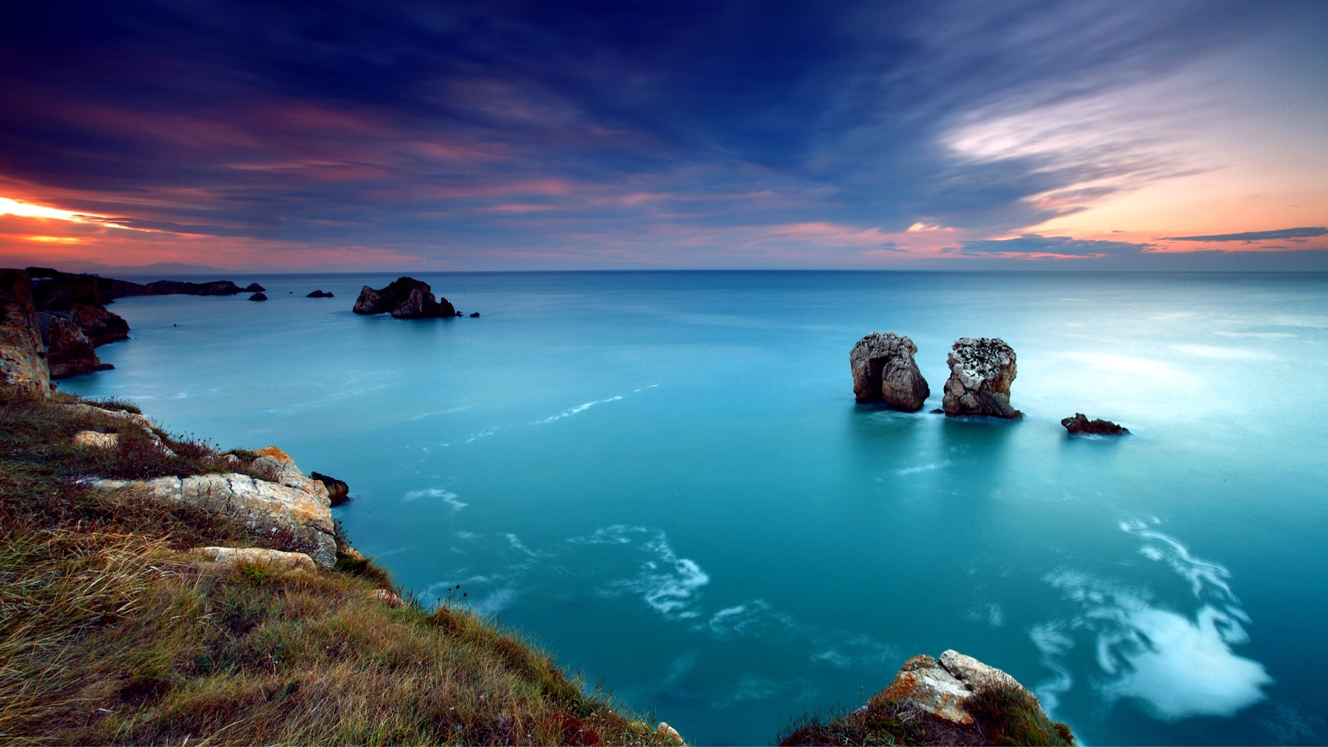 Hdr Coastal Seascape wallpaper