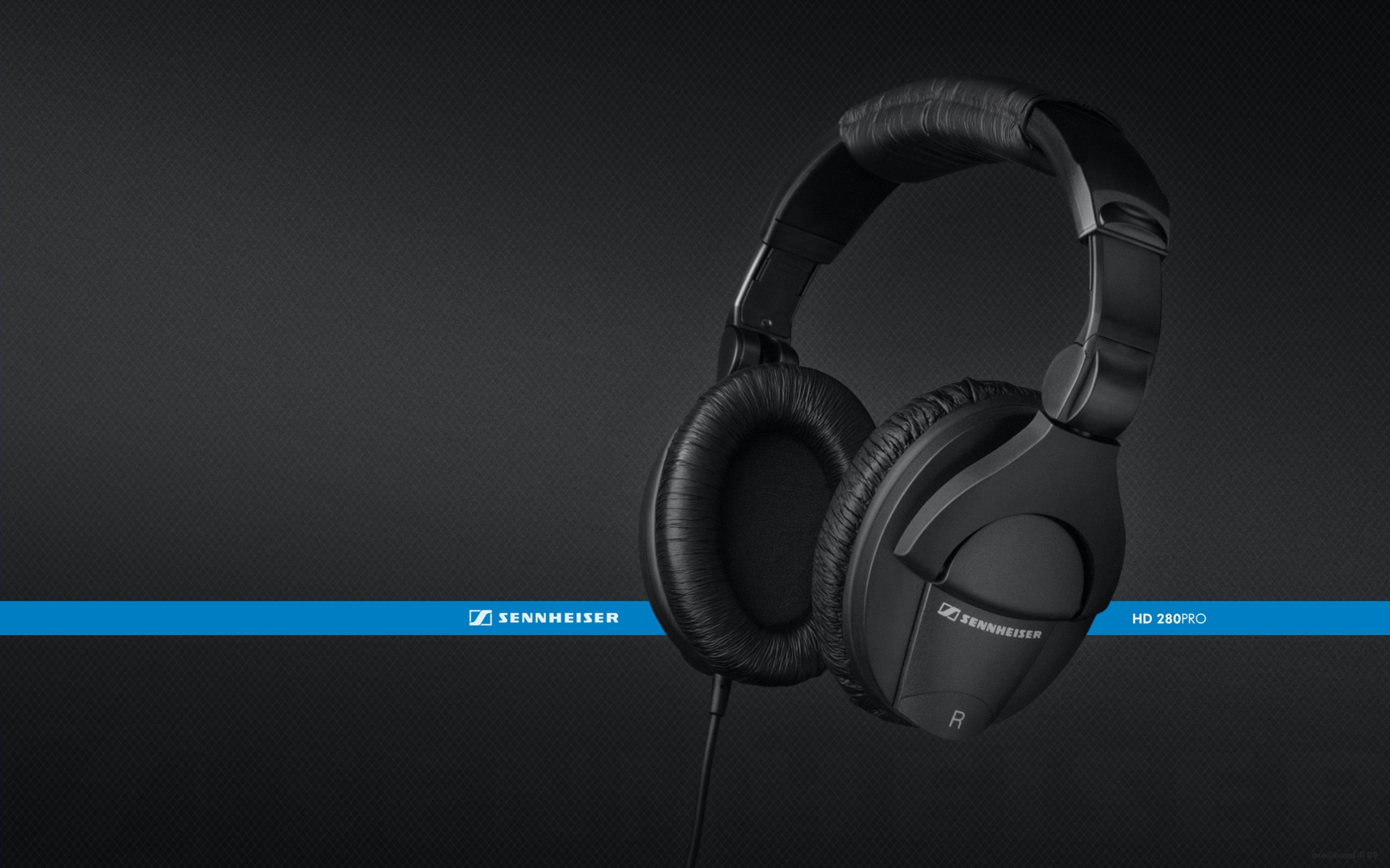 3840x2400 Wallpaper headphones, sennheiser, hd280pro, background, black