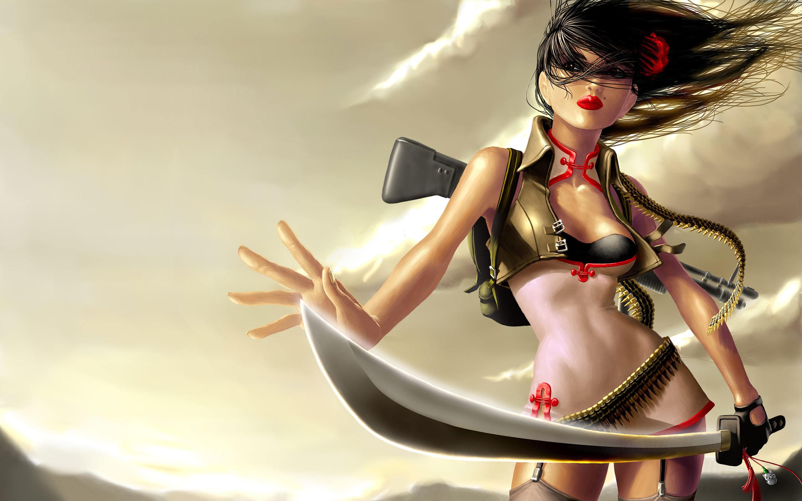 Sexy assassin girl