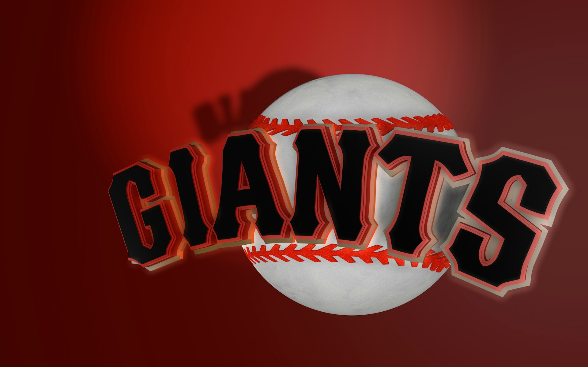 red bold Giants wallpaper