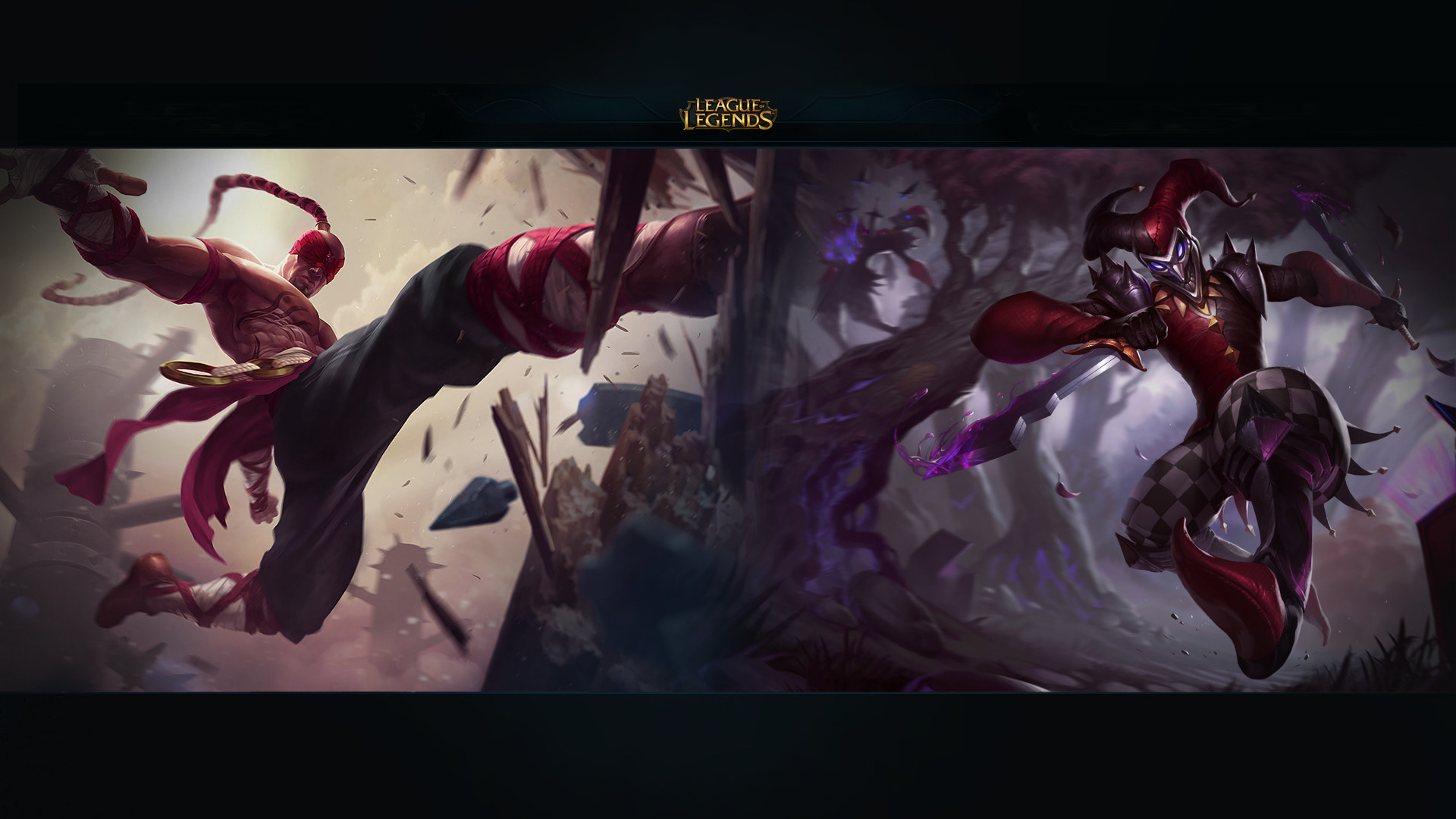 Lee Sin and Shaco HD Wallpaper 1920x1080