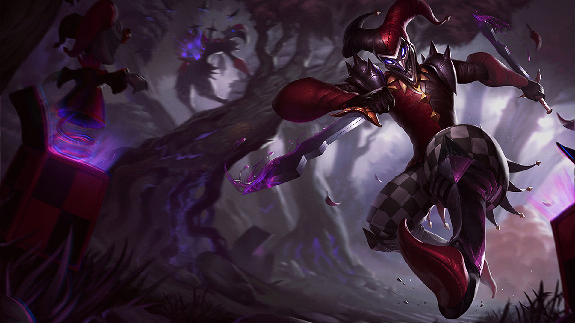 Shaco New Splash Art 1920x1080. Wallpaper Resolution 1920x1080