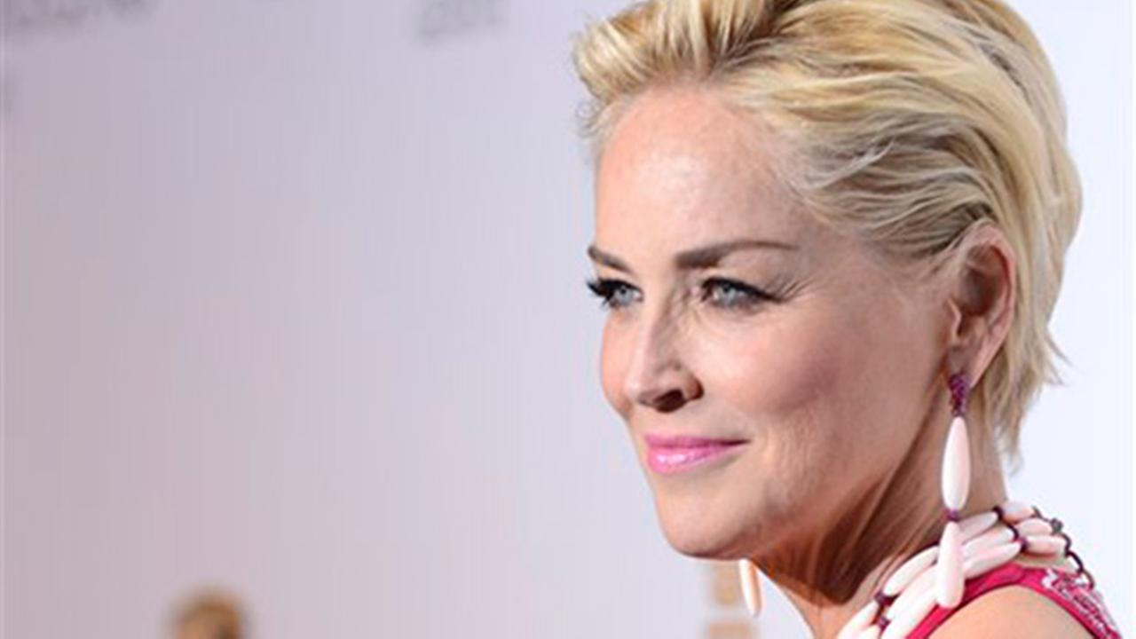 Sharon Stone speaking at Pennsylvania civic event