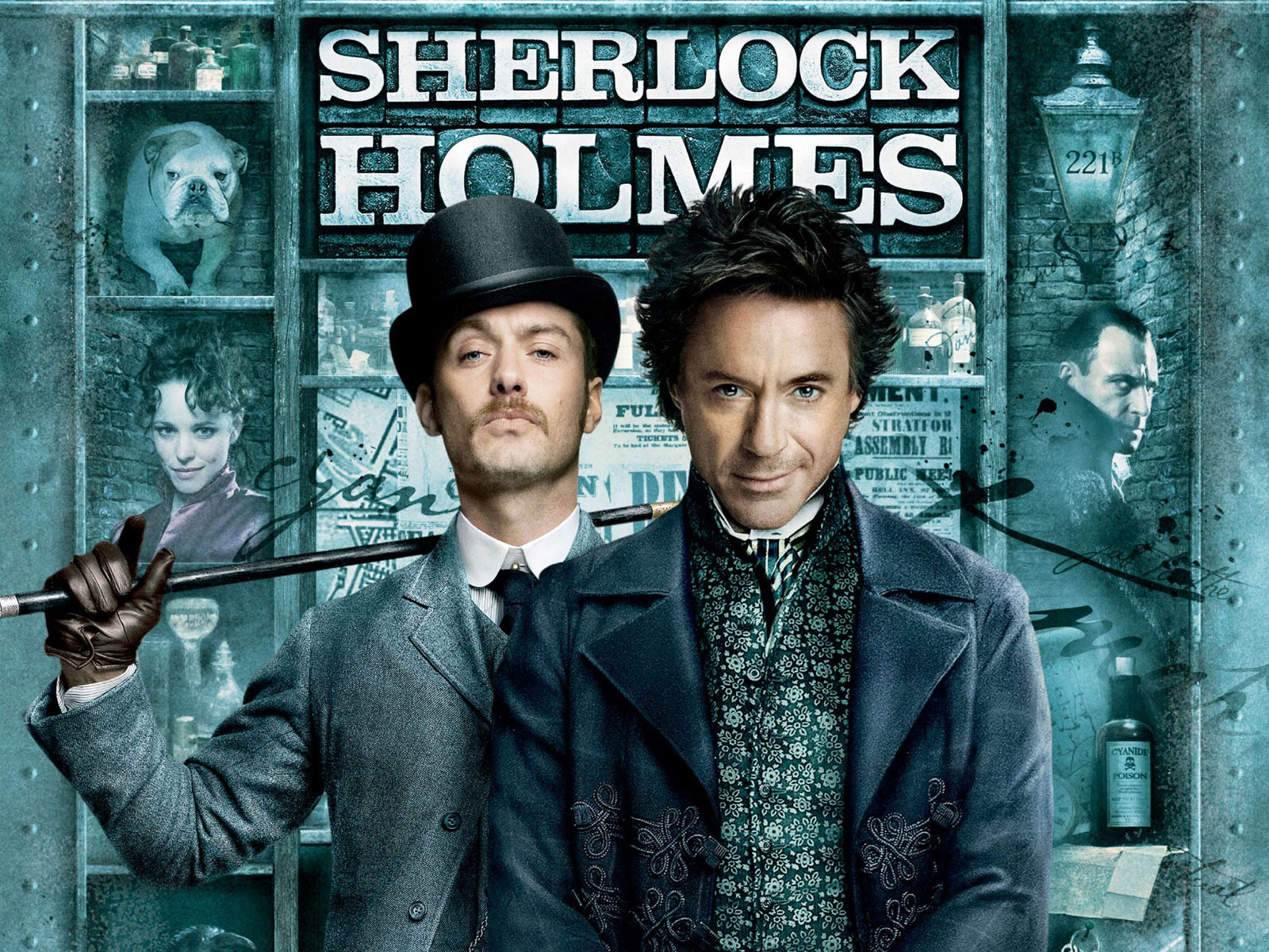 Sherlock Holmes 2009 Movie Poster 320x240 Sherlock Holmes Resurgence in Mainstream Media is Here to Stay